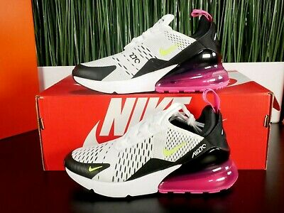 $129.99 • Buy Nike Air Max 270 GS White Volt Pink Womens Running Shoes Size 5