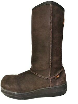 Rocket Dog Brown Suede Fur Lined Calf Length Winter Snow Boots 6.5 • 13.50£