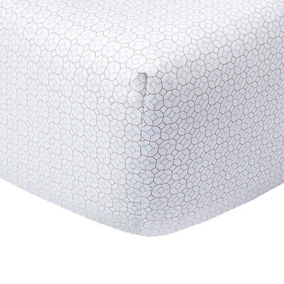 Yves Delorme | Miami Fitted Sheets Printed 100% Cotton Sateen 40% Off Rrp • 75.06£