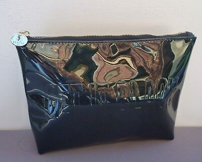 AU16.99 • Buy YSL Beauty  GET IT BLACK  Faux Patent Leather Makeup Cosmetics Bag, Brand NEW!