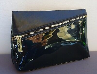 AU17.99 • Buy YSL Beauty Black Faux Patent Leather Makeup Cosmetics Bag / Pouch, Brand NEW!