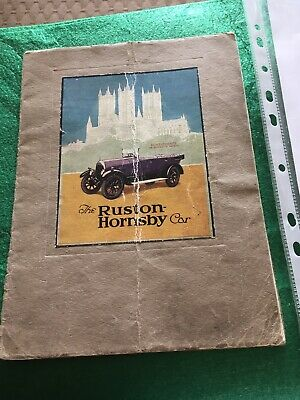 Ruston Hornsby Car Brochure 1923 Lincoln • 1,000£