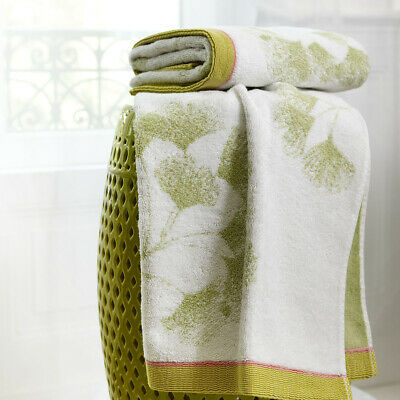 YVES DELORME | GINKGO TOWELS 100% COTTON JACQUARD 550g/m² 40% OFF RRP • 46.80£