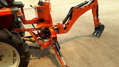 AU4750 • Buy Backhoe BHM-155 For Small Tractor 3-PL, With Oil Tank And Pump, 290mm Bucket