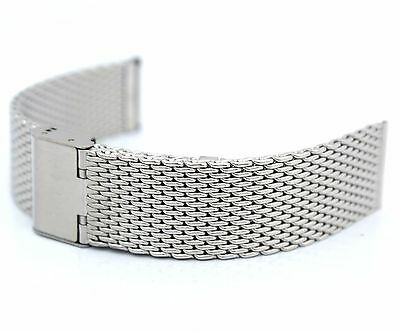 £7.99 • Buy 22mm Stainless Steel Shark Mesh Watch Strap Bracelet / Band Watches