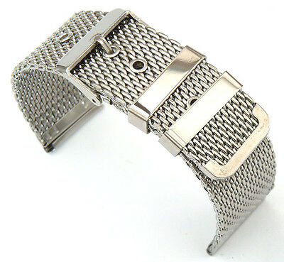20mm Stainless Steel Shark Mesh Watch Strap Tang/Pin Buckle Watch Band  • 7.65£