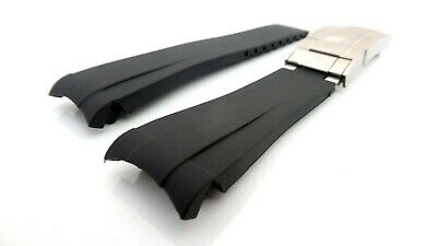 $ CDN63.39 • Buy Curved End Links Rubber Watch Strap Watch Band For ROLEX Submariner, Rolex GMT