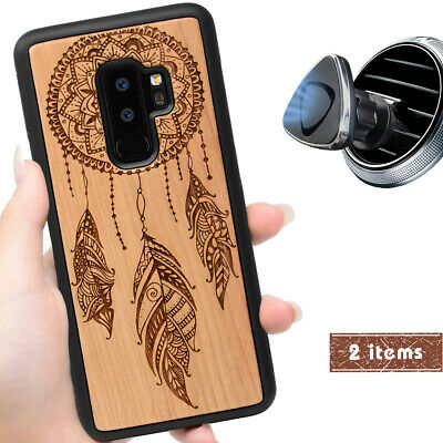 AU29.27 • Buy Dreamcatcher Wood Case With Magnetic Mount / Screen Protector For Samsung Galaxy