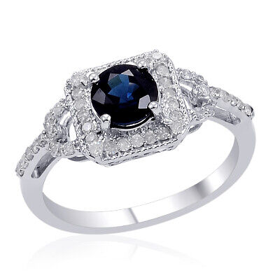 $29.48 • Buy 925 Sterling Silver Blue Created Sapphire Ring Mothers Day Gifts Size 7 Ct 1