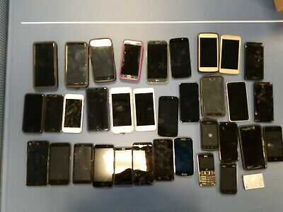 $ CDN643.51 • Buy Lot Of 34 Used Smartphones. IPhone X 5s 4 Galaxy S9+ Note 8. Parts Or Refurbish