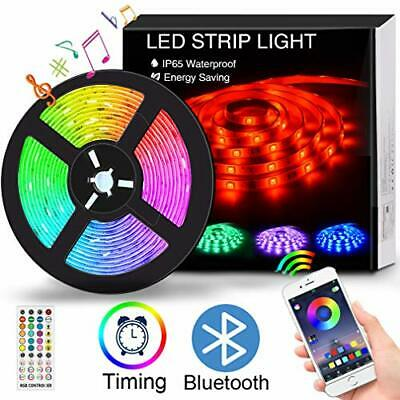 $32.31 • Buy LED Strip Lights With Remote For Room Color Changing 16.4FT/5M Waterproof RGB