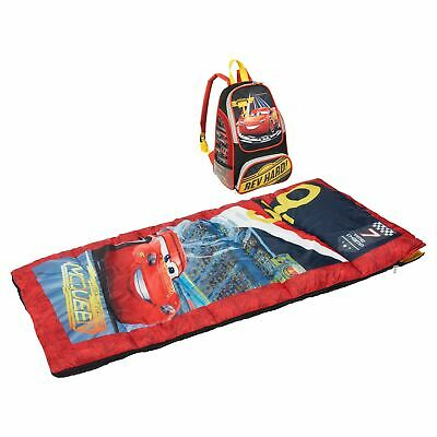 New Disney Pixar Cars 3 Camping Backpack Sleeping Bag Set 4+ • 23.88£