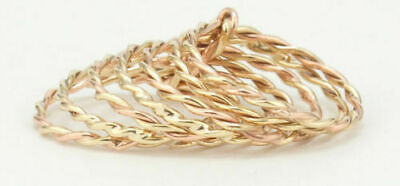 AU414 • Buy 9k Solid Gold Designed Ring,GOLD Nature Stacking Ring Twist 7 Ring