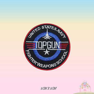 £2.29 • Buy Top Gun Super Hero Movie Embroidered Iron On Sew On Patch Badge