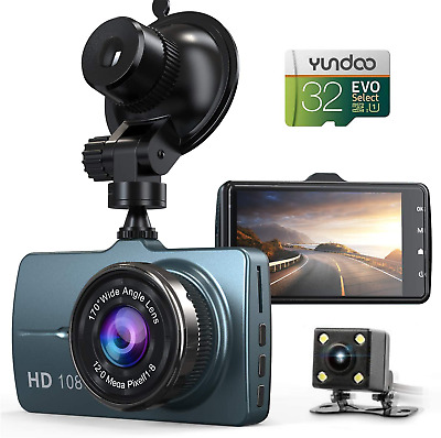 AU133.51 • Buy Dash Cam Front And Rear Car Camera, 1080P 3.2  Dashboard Camera With 32GB SD For