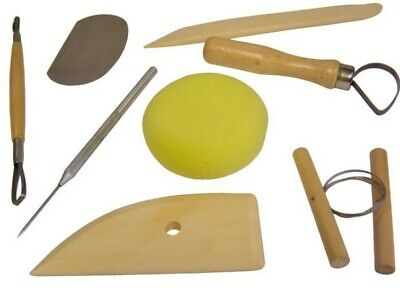 £6.79 • Buy 8 Piece Clay Sculpting Tools Great For Art Projects Pottery Carving Kit Sets