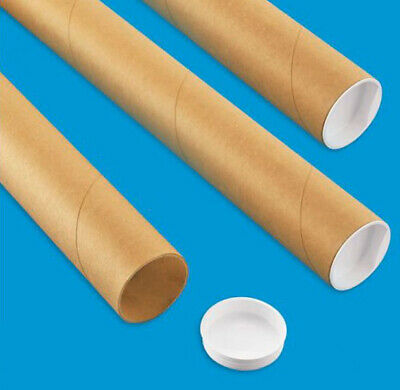 $16.46 • Buy 3 Mailing Tubes With End Caps (2  X 24 ) Shipping Poster Artwork Print Packing