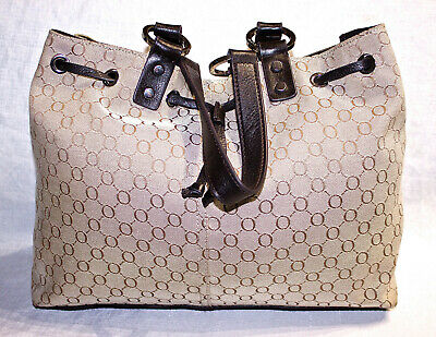 AU44 • Buy RRP$345 OROTON Jacquard+Leather Shoulder Bag/Handbag/Signature O Shopper Tote