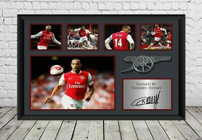 £7.29 • Buy Thierry Henry Signed Photo Poster Print Football Arsenal FC Memorabilia