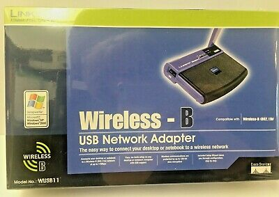$14.99 • Buy Linksys Wireless-B Model No: WUSB11 USB Network Adapter New