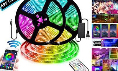 $54.38 • Buy LED Strip Lights For Room With Remote Bluetooth,32.8Ft RGB 5050  Color Change