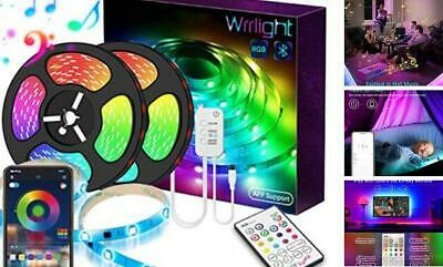 $49.94 • Buy LED Strip Lights For Room With Remote Bluetooth, 32.8Ft RGB 5050  Color Change