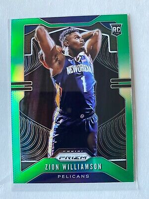 $219 • Buy Panini Prizm Green Zion Williamson RC Rookie New Orleans Pelicans