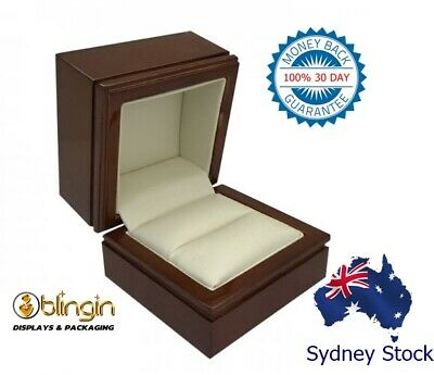 AU29 • Buy Engagement Wooden Ring Jewellery Gift Box Presentation Jewelry Case 6 X 6 X 5cm