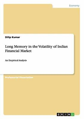 £47.08 • Buy Long Memory In The Volatility Of Indian Financial Market.by Kumar, Dilip New.#