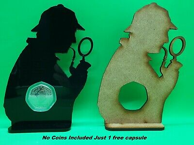 Sherlock Holmes 50p Coin Display Stand Holder 50 Pence (NO COIN INCLUDED) #1 • 8£