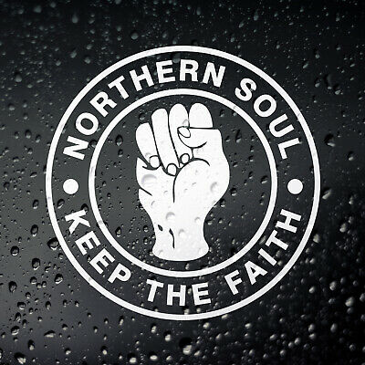 Northern Soul Keep The Faith Scooter Sticker, Car Campervan MOD Laptop Motown DJ • 2.50£