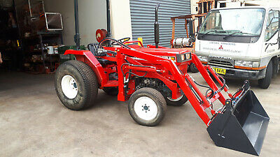 AU18880 • Buy Shibaura Tractor 33hp 4wd, HST Trans, 4in1 Loader, P/steer, Turf Tyres Good Cond