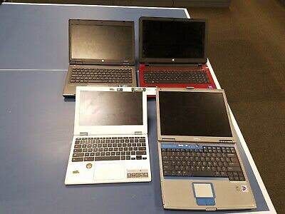 $ CDN39.49 • Buy Lot Of 4 Used Laptops HP ProBook HP 15 Dell Inspiron Acer Chromebook 11