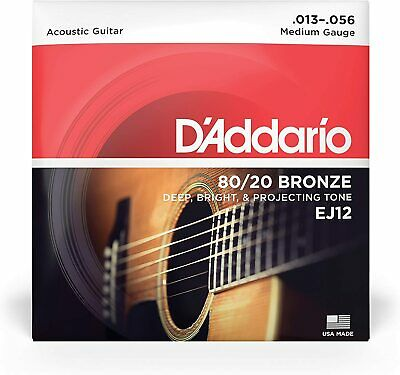 $ CDN7.39 • Buy D'Addario EJ12 80/20 Bronze Medium Gauge Acoustic Guitar Strings