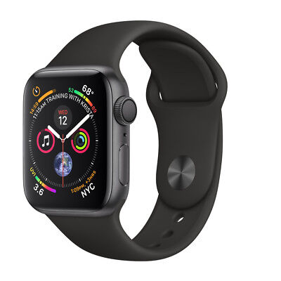 $ CDN423.08 • Buy Apple Watch Series 4 40 Mm Space Gray Aluminum Case With Black Sport Band (GPS)