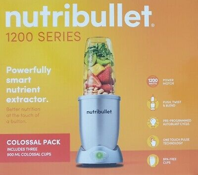 AU185 • Buy Nutribullet 1200 Series Smart Nutrient Extractor Colossal Pack 1200 Watts