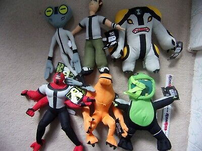 BEN 10 12  Soft Toys New Tags Fourarms Wildmutt Cannonbolt Grey Matter Upchuck • 3.99£