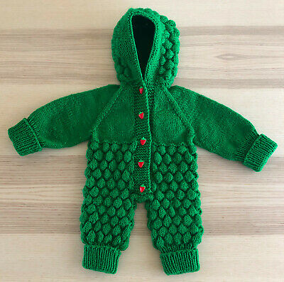 Hand Knitted Baby All In One Piece,Acrylic 100%,baby Overall,romper,jump Suit • 35£
