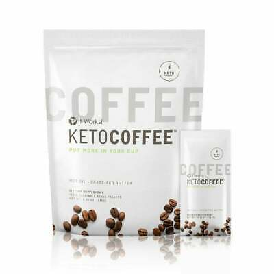 $39.50 • Buy Brand New It Works Keto Coffee 15 Packets MCT Oil Grass-Fed Butter Supplement