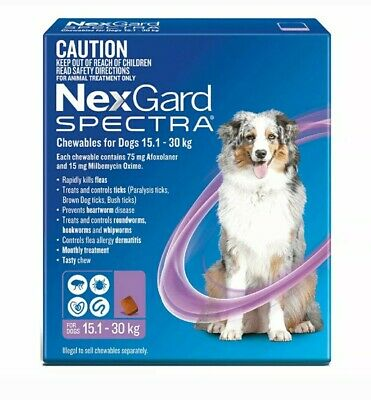 AU97 • Buy NexGuard Spectra Chewables For Dogs Purple 6 Pack For Flea, Tick And Heartworm