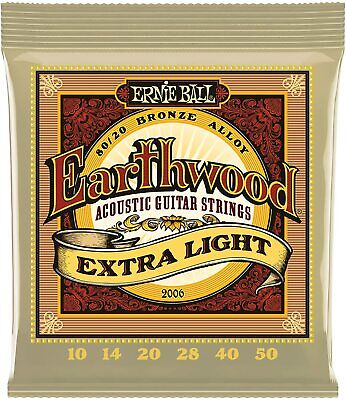 $ CDN7.19 • Buy Ernie Ball Earthwood 2006 80/20 Bronze Extra Light Gauge Acoustic Guitar Strings