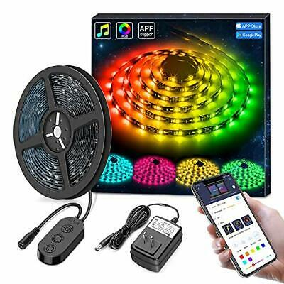 $40.29 • Buy  New LED Strip Lights Smart For Room With Remote Music Sync 16.4 Feet Waterproof