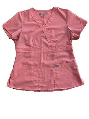 $5 • Buy Grey's Anatomy By Barco Scrub Top - Coral  - Medium