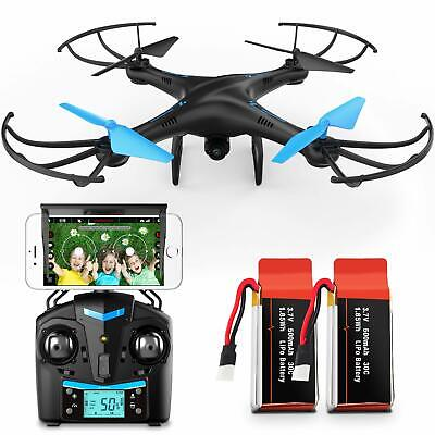 AU78.64 • Buy Force1 U45W Blue Jay Drones With Camera For Adults And Kids - WiFi FPV Drone