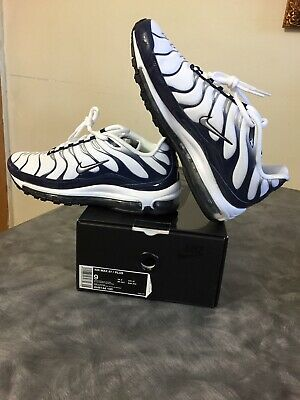 $50 • Buy Nike Air Max 97 Plus Men's Running Shoes White/Silver/Navy  AH8144-100 Size 9