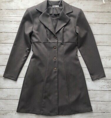 £16.36 • Buy Vtg Blondie And Me Womens Sz 5-6 Gray Sleeveless Dress And Long Sleeve Coat Suit