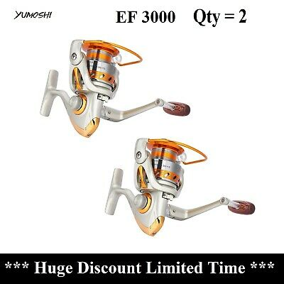 AU49.95 • Buy Qty=2 Spinning Reels Fishing Reels EF3000 12 Bearings Fast Delivery Aus Stock !!