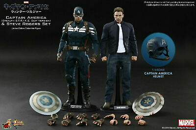 $649.99 • Buy 1/6 Hot Toys Captain America And Steve Rogers Deluxe Set, MMS243, 2 Figures New