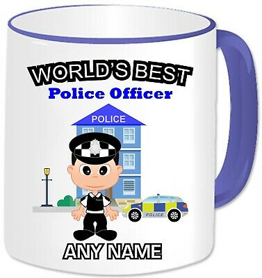 Personalised Gift World's Best Police Mug Cup PC Policeman Officer Hero Present  • 11.99£
