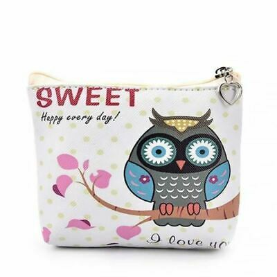 Zipped Owl Purse Small Pouch Money Wallet Sweet Printed Bag • 3.99£